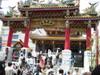 関帝廟の人混み